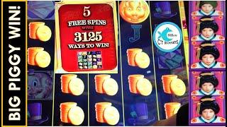YES! PICKING 5 SPINS ON THE PIGGY PAID!⋆ Slots ⋆ RAKIN' BACON SLOT MACHINE, DRAGONS OF THE EASTERN OCEAN!