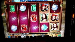 Double DaVinci Diamonds Bonus Rounds (IGT / High 5 Games)