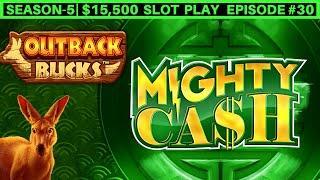 Mighty Cash Outback Bucks Slot Machine Live Play | SEASON 5 | EPISODE #24