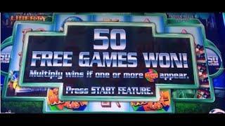MISS LIBERTY - 50 Free Spins Bonus! - Aristocrat Super Wheel Blast