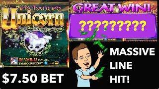 Enchanted Unicorn HUGE Line Hit - Unicorn Wild Reels !