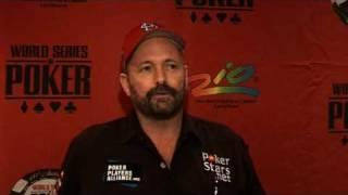 WSOP 2009 November Nine - Dennis Phillips On The Rail World Series of Poker WSOP 2009.flv