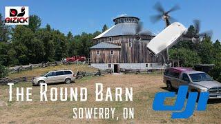 THE ROUND BARN - SOWERBY, ON - AERIAL FOOTAGE WITH A DJI SPARK DRONE