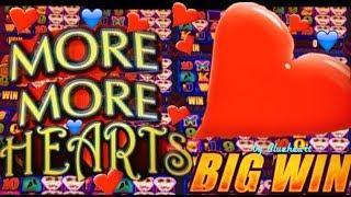 MORE MORE HEARTS slot machine BONUS WIN and more SLOT VIDEOS! • mavikalp77