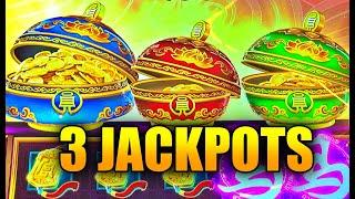 NEW SLOT: 3 JACKPOT HANDPAYS ON HIGH LIMIT COIN COMBO HURRICANE HORSE