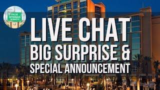 LIVE CHAT - SPECIAL ANNOUNCEMENT FROM OUR LOCAL CASINO HOTEL ROOM