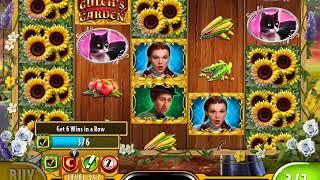 """THE WIZARD OF OZ: MISS GULCH'S GARDEN Video Slot Game with a """"BIG WIN"""" FREE SPIN BONUS"""