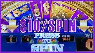 •$10/Spin on Wheel of Fortune TRIPLE GOLD • • Slot Machine Pokies w Brian Christopher