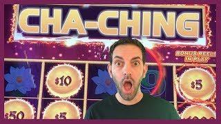 •CHA-CHING!•Big BONUS Hit + HIGH LIMIT Slots • Slot Machine Pokies w Brian Christopher
