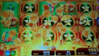 Dragon's Law Twin Fever Slot Machine Bonus - 8 Free Games with Random Wilds - Nice Win (#1)