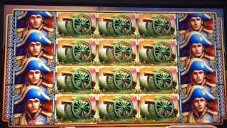 ** JACKPOT ** NAPOLEON & JOSEPHINE slot machine AMAZING FULL SCREEN JACKPOT HANDPAY WIN!