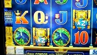 Bonus&BIG WIN on Golden Incas - 5c Aristocrat Video Slots