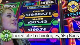 Sky Bank Sparkling Spins slot machine preview, Incredible Technologies, #G2E2019