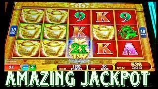 AMAZING JACKPOT AS IT HAPPENS LIVE! RED FORTUNE HIGH LIMIT SLOT MACHINE