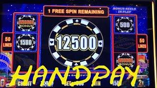 Lightning Link HIGH STAKES Live Play with HANDPAY HUGE WIN Free Spins Bonus