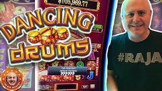 •DOUBLE DANCING DRUMS JACKPOTS! • High Limit BIG WIN$ •