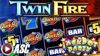 •JACKPOT PARTY CASINO FRIDAY!• TWIN FIRE (BALLY) •SLOT GAME APP REVIEW•