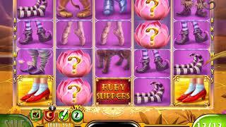 "THE WIZARD OF OZ: RUBY SLIPPERS Video Slot Game with ""MEGA WIN"" RETRIGGERED FREE SPIN BONUS"