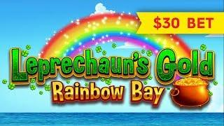 Leprechaun's Gold Rainbow Bay Slot - GREAT SESSION, ALL FEATURES!
