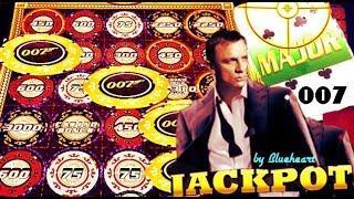 • JACKPOT HANDPAY! • FULL SCREEN CHIPS! JAMES BOND CASINO ROYALE slot machine WINS!