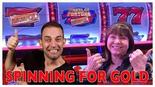 Spinning For GOLD •WHEEL•OF•FORTUNE! w/ Diana Evoni! •Buffalo MAX•Venetian LAS VEGAS • BCSlots