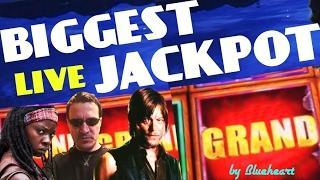 •BIGGEST LIVE JACKPOT• •MASSIVE HANDPAY• The WALKING DEAD 2 slot machine  CRAZY WINS JACKPOT!