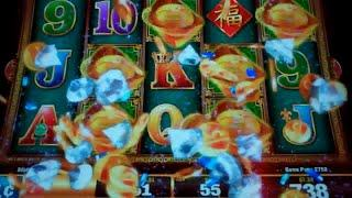Heavenly Riches Slot Machine Bonus - 8 Free Games with Scatter Pays - Nice Win