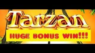 Aristocrat Slot Machine Tarzan Wheel Bonus BIG WIN!