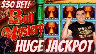 High Limit Konami Slot Machine HUGE HANDPAY JACKPOT | Bull Mystery Slot Machine BIG JACKPOT