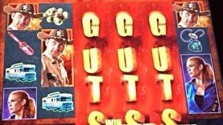 **2 BONUSES TOGETHER ** The WALKING DEAD slot machine Max bet BONUS WINS!