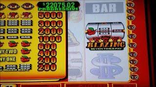 Hot Shot Progressive Slot Machine Bonus with Max Bet