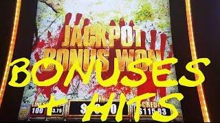 The Walking Dead 2 BONUSES AND HITS Live Play max bet Slot Machine