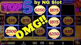 Top 5 JACKPOTS In 2018 By NG |Great Moai |Lightning Link  |Jin Long 888 | Mighty Cash | Lock It Link