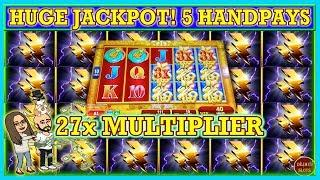 WOW 27x MULTIPLIER! HUGE JACKPOT OMG I COULD NOT STOP GETTING HANDPAYS! HIGH LIMIT SLOTS