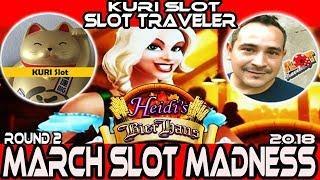 •ROUND#2 • Heidi's Bier Haus Slot • #MarchMadness2018 #Slots • Slot Traveler VS. KURI Slots