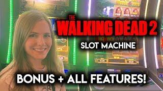 Walking Dead 2 Slot Machine! Both Features and the Jackpot BONUS!!