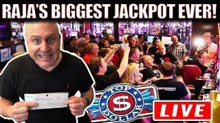 UNBELIEVABLE...RAJA SHATTERS HIS RECORD! •BIGGEST JACKPOT HIT LIVE ON YOUTUBE!  •