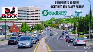 Highway 17 East - Driving into Sudbury - Parking at City Hall Tom Davies Square