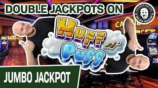 2️⃣ X MASSIVE JACKPOTS Playing Lock It Link Huff N' Puff Slots • Jealous?