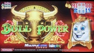 Konami Gaming: Mirror Reels - Bull Power Slot Bonus with a Re-Trigger *New Game ALERT*
