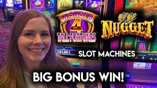 BIG BONUS WIN!! Wild Wild Nugget Slot Machine!!