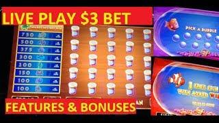 GOLDFISH 3 SLOT LIVE PLAY WITH BONUSES!!! POKIES!!!