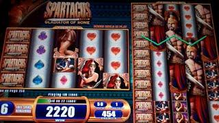 Spartacus Slot Machine Bonus - 8 Free Games with Nudging Wilds - Nice Win (#2)