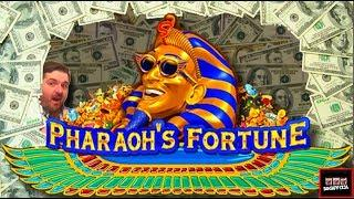 Upto $40 A Spin! LIVE PLAY on Pharoah's Fortune Slot Machine With Bonuses