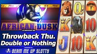 African Dusk Slot - TBT Double or Nothing, Live Play w/Cashman Tonight Features
