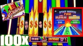 BIG WIN!!•SPIN IT GRAND•WITH RETRIGGERS!!• STAR WATCH FIRE•WINNING AT THE CASINO!!