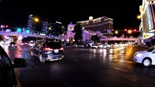Driving the Las Vegas Strip in a taxi with a crazy girl - 4K HD