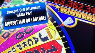 WHEEL OF FORTUNE JACKPOT! HIGH LIMIT ★ Slots ★ MASSIVE WIN ON CASH SPIN ★ Slots ★ JACKPOT HAND PAY!