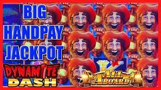 HIGH LIMIT All Aboard ⋆ Slots ⋆ Dynamite Dash BIG HANDPAY JACKPOT BACK TO BACK $25 Bonus Rounds Slot