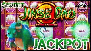 NEW SLOT HIGH LIMIT Jinse Dao Ox JACKPOT HANDPAY $25 MAX BET BONUS ROUND Slot Machine HARD ROCK